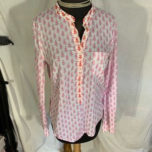 J crew band collar tulip cotton tunic. Size 4